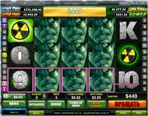 слот Incredible Hulk, онлайн казино, крупные выигрыши