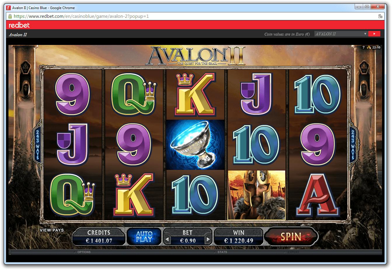 Выиграл 1220 долларов в слот Avalon II