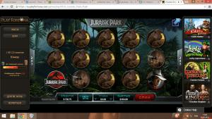 выигрыш в слот Jurassic Park, онлайн казино, казино Play Fortuna