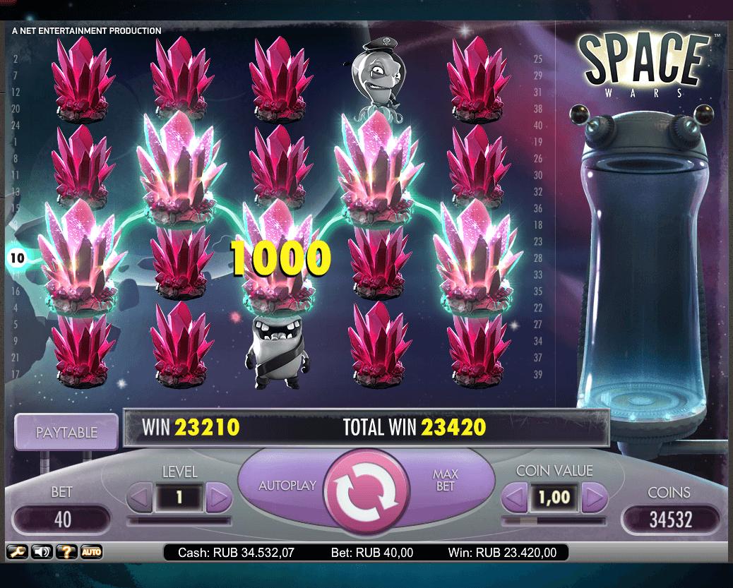 игровые автоматы, Обзор слота Space wars,онлайн казино, слот SpaceWars, лучшие слоты, лучшие игры казино